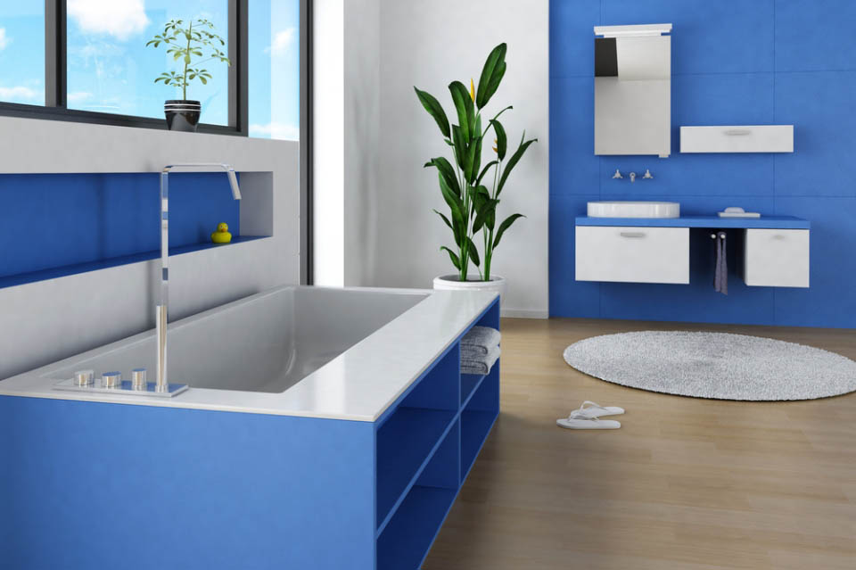 Badezimmer Wandfarbe